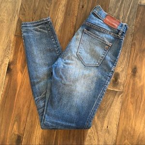 Madewell High Riser Distressed Skinny Jeans